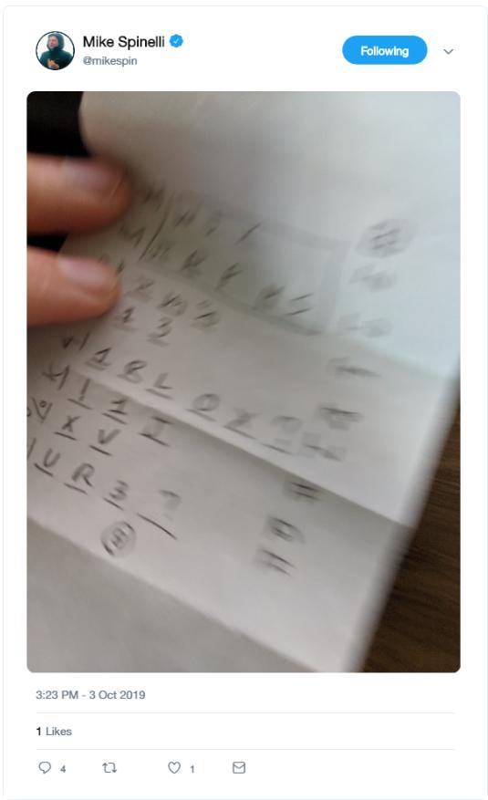 receipt cipher